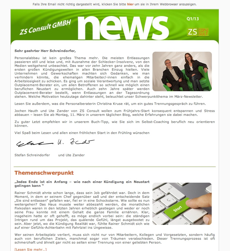 ZS Newsletter